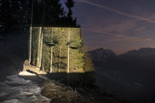 proiezione in montagna
